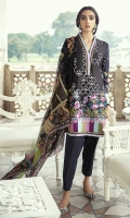SHIRT LAWN EMBROIDERED SHIRT FRONT  DIGITAL PRINTED BACK AND SLEEVES  TROUSER DYED CAMBRIC TROUSER  DUPATTA DIGITAL PRINTED CHIFFON DUPATTA