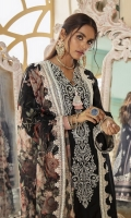 SHIRT (2.5M)  DYED EMBROIDERED FRONT AND SLEEVES  DIGITAL PRINTED BACK  TROUSER (2.5M)  DYED CAMBRIC TROUSER  DUPATTA (2.5M)  DIGITAL PRINTED & EMBROIDERED POLY AND ORGANZA DUPATTA