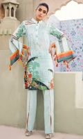 Digital printed 100% pima cotton lawn shirt Dyed cotton cambric trouser