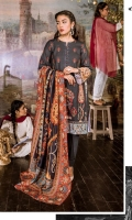 FLATBED PRINTED KHADDAR SHIRT  1 EMBROIDERED PATTI FOR HEM DYED KHADDAR TROUSER DIGITAL PRINTED VISCOSE NET DUPATTA