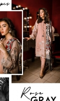EMBROIDERED LINEN SHIRT FRONT  DIGITAL PRINTED BACK AND SLEEVES  DYED LINEN TROUSER  DIGITAL PRINTED VISCOSE NET DUPATTA
