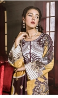 DIGITAL PRINTED KHADDAR SHIRT  1 EMBROIDERED PATTI FOR SLEEVES DYED KHADDAR TROUSER DIGITAL PRINTED VISCOSE NET DUPATTA