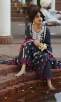 SHIRT (2.5M)  EMBROIDERED LAWN FRONT AND SLEEVES  DIGITAL PRINTED BACK  TROUSER (2.5M)  DYED CAMBRIC TROUSER  DUPATTA (2.5M)  DIGITAL PRINT CRINKLE CHIFFON DUPATTA