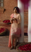 SHIRT (2.5M)  EMBROIDERED LAWN FRONT AND SLEEVES  DIGITAL PRINTED BACK  EMBROIDERED PATTI FOR SHIRT HEM  TROUSER (2.5M)  DYED CAMBRIC TROUSER  DUPATTA (2.5M)  EMBROIDERED LAWN DUPATTA