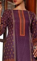 2.81 Meter Printed Digital Cotton Shirt. 2.25 Meter Printed Digital Cotton Dupatta. 2.50 Meter Dyed Cotton Trouser.