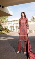 3 Piece Embroidered Suit Velvet Dupatta