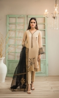 Crafted on Organza fabric this opulent 2pc kurta and dupatta