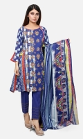 3M Printed Lawn Shirt 2.5M Printed Lawn Dupatta 2M Dyed Cambric Trouser