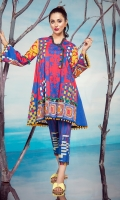 1.15M Printed Front,  1.15M Printed Back,  0.6M Printed Sleeves,  2M Printed Trouser, Emb lace for neckline