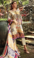 Printed Cambric Shirt 3.00M  Printed Lawn Dupatta 2.50M  Dyed Cambric Trouser 2.00M  Embroidered Lace 2.50M