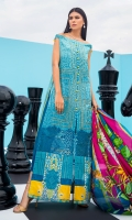 Embroidered Lawn Front 1.15 Mtr Printed Lawn Back 1.15 Mtr Printed Sleeves 0.65 Mtr Printed Silk Dupatta 2.5 Mtr Dyed Trouser 2 Mtr Embroidered Tissue Border for Daman