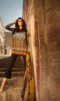1.1M Printed Front 1.1M Printed Back 0.6M Printed Sleeves Embroidered Border For Daman