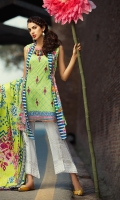 3M Embroidered Shirt 2.5M Printed Lawn Dupatta