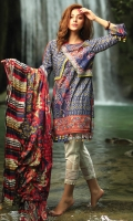 3M Printed Shirt 2.5M Printed Dupatta 1.5M Embroidered Boarder for Daman Embroidered Boarder for front