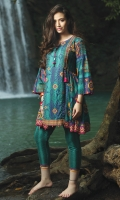 3M Printed Shirt 2.5M Printed Trouser 1M Embroidered Boarder for Front