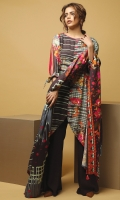 3 Meters Printed Viscose Shirt,  2.5 Meters Printed Viscose Dupatta,  2.5 Meters Dyed Viscose Trouser.