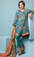 3 Meters Printed Khaddar Shirt,  2.5 Meters Printed Khaddar Dupatta,  2.5 Meters Dyed Khaddar Trouser.