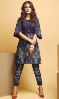 1.15 Meters Embroidered Khaddar Front,  1.15 Meters Printed Khaddar Back,  0.6 Meter Printed Khaddar Sleeves,  2.5 Meters Printed Khaddar Trouser.