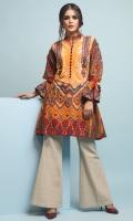 1.15 Meters khaddar Embroidered Front,  1.15 Meters khaddar Printed Back,  0.6 Meter Printed Sleeves.