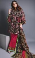 3 Meters Printed Khaddar Shirt,  2.5 Meters Printed Khaddar Dupatta,  2.5 Meters printed Khaddar Trouser.