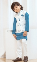 Waistcoat : Self Embroidered Jamawar Fabric Pants: Wash & wear fabric with straight cut pants Shirt : Wash and wear fabric with thread and fabric detailing