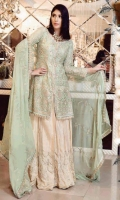 Three Piece Embroidered Chiffon Suit