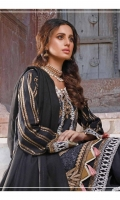 Embroidered Self Linen Front 1.15 MTR  Embroidered Self Linen Back 1.15 MTR  Embroidered Self Linen Sleeves 0.75 MTR  Embroidered Border on Organza for Hem 1.25 MTR  Embroidered Border on Organza for Sleeves 1 MTR  Dyed Acrylic Embroidered Pallu Shawl 2.5 MTR  Dyed Linen Trousers 2.5 MTR