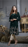 Unstitched Embroidered Velvet Shirt