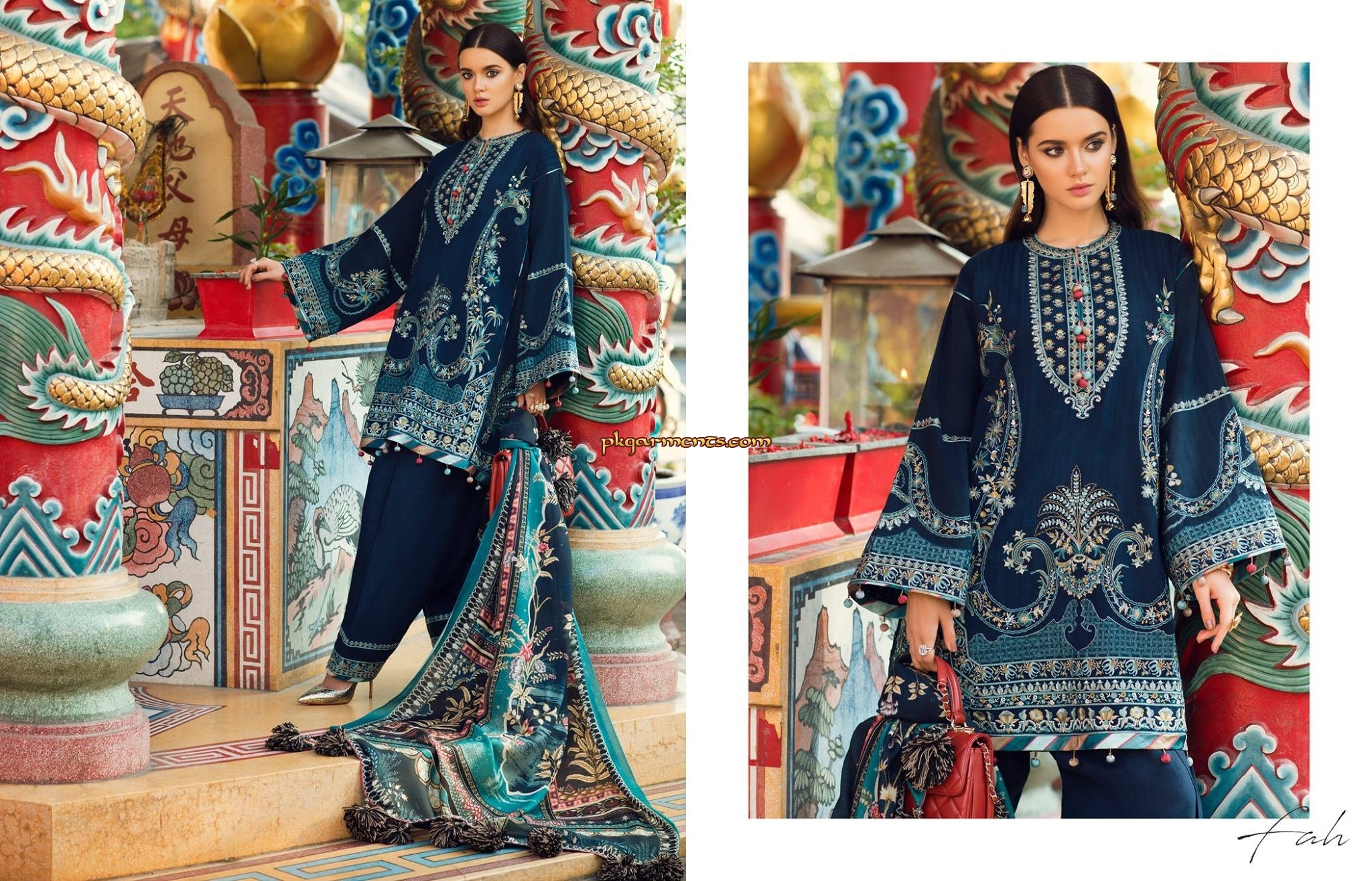 cc620ffd22 Digital Printed Shawl (Pure Wool) 2.50 meters Embroidered Jacquard Shirt  Front 1.25 meters Jacquard