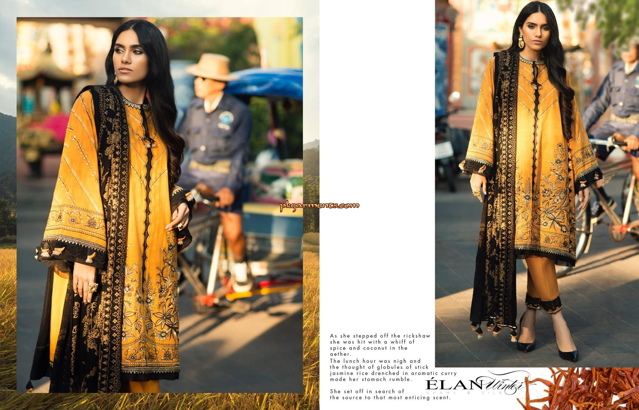 59643ade45 Dusk Printed Shawl (Pure Wool) 2.50 meters Embroidered Jacquard Shirt Front  02 Pieces Embroidered
