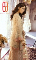 Embroidered Front with sequence Embroidered Back Embroidered Sleeves Embroidered Front Patch Embroidered Back Patch Embroidered Net Dupatta Embroidered Net Fabric for Trouser ( Gharara / Sharara ) Trouser linning