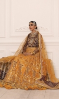 Net Embroidered Hand Made Front Body Net Embroidered Back Body Net Embroidered Sleeves Net Embroidered Front Panels Net Embroidered Back Panels Net Embroidered Dupatta Net Embroidered Dupatta Palo Patches Net Embroidered Dupatta Lace Raw Silk Embroidered Front And Back Border Jamawar Trouser