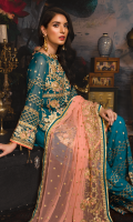 Embroidered Chiffon Front Embroidered Chiffon Back Embroidered Organza Front, Back Border Embroidered chiffon Sleeves Embroidered Chiffon Dupatta Embroidered Raw Silk Trouser  Related products