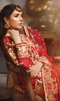 Chiffon Embroidered Front With Handwork Chiffon Embroidered Back Embroidered Front, Back Patch on Organza Embroidered chiffon Sleeves Organza Embroidered Sleeves motifs Chiffon Embroidered Dupatta Jacquard Trouser