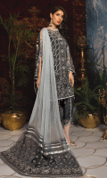 Embroidered Chiffon Front Embroidered chiffon Back Embroidered Chiffon Sleeves Pallu Chiffon Embroidered Dupatta with Dimantes Work Embroidered Organza Patch for Trouser Russian Grip Trouser