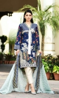 Front Dyed Nemb  Printed Back & Sleeves  Brosha Dupatta  Printed Trouser
