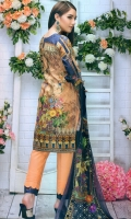 Embroidered Lawn Shirt  Chiffon Dupatta  Simple Trouser