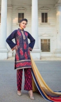 Karandi Dyed And Embroidered Front  Karandi Embroidered And Dyed back  Karandi Dyed Sleeves  Printed Viscose Shawl