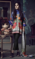 Printed Cambric shirt 2.94M, Dyed Cambric trouser 2.5M, Printed chiffon Dupatta 2.57M