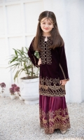 Fabric: Velvet shirt and silk shahrara