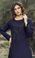 Embroidered Cotton Net Stitched Kurti