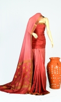 Pashmina Silk Fabric of Saree With Plain Motif Zari Work On Anchal, Blouse of Plain Pure Silk.