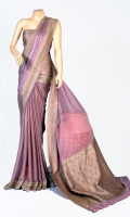 Maisori Chiffon Saree , With Zarbaft Embossed Work on Anchal and  Blouse of Zarbafat Zari Work.