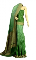 Maisori Chiffon Fabric of Saree with Small Booti Style and Self Strip Design, Blouse of Zari and Resham Strip.