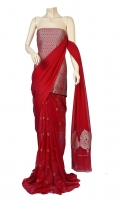 Maisori Chiffon Fabric of Saree that has Mena Motif Design, Blouse of Zarbafat Zari and Resham Work.