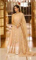 White chicken kari white: Hand embellished chiffon chicken kari mukesh front and back