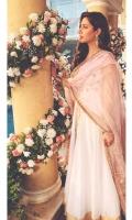 Upper: Gotta embroidered with white pishwas  Dupatta: Self Gotta on Organza with all around kiran
