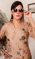 Digital Print Embroidered Viscose Shirt Crinkal Chiffon Cut Work Dupatta Dyed Bottom