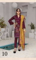 Embroidered Dhanak Shirt Printed Wool Shawl Dyed Trouser