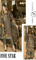 Printed Lawn Unstitch Three Pcs Suit